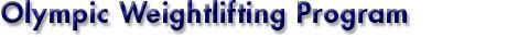 TitleOlympicWeightliftingProgram