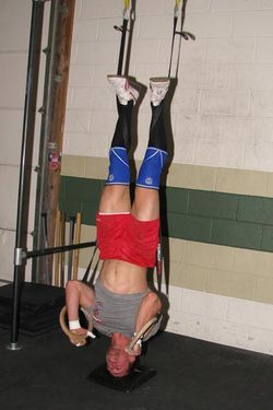 Caleb ring handstand pushups