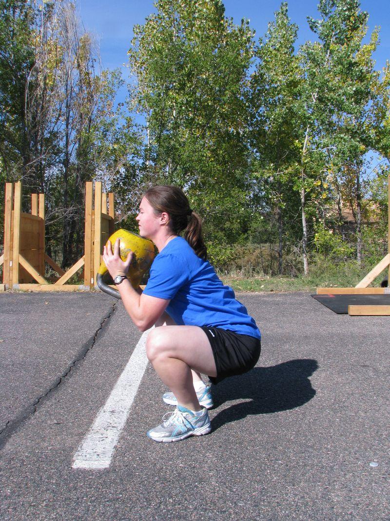 Goblet squat, KB swing 004