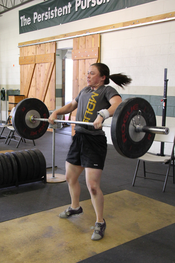 Colleen clean and jerk 1